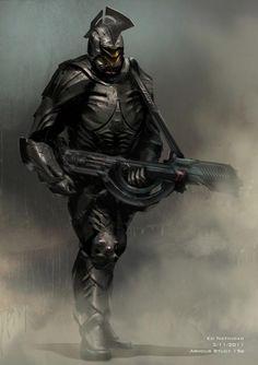 Concept art de El Hombre de Acero (2013), por Ed Natividad