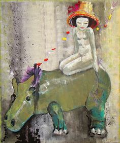 Marianna Katsoulidi, Girl and hippopotamus, 2011, mixed media on canvas, 120 x 100 cm   Human Toys Collection (http://www.dlfineartsgallery.com/exhibit/%CE%BC%CE%B1%CF%81%CE%B9%CE%B1%CE%BD%CE%BD%CE%B1-%CE%BA%CE%B1%CF%84%CF%83%CE%BF%CF%85%CE%BB%CE%B9%CE%B4%CE%B7-marianna-katsoulidi/cQIyVXWubIaTJw)