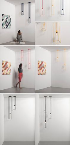 Ukrainian design studio FILD have launched LINES, a series of geometric pendant lights made from powder-coated steel.