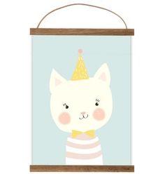 Poster babykamer mevrouw kat 21x29.7 cm