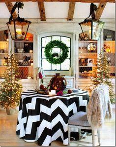 chevron print + rustic decor = delightful  /// sadie + stella: monday musings: holiday chic