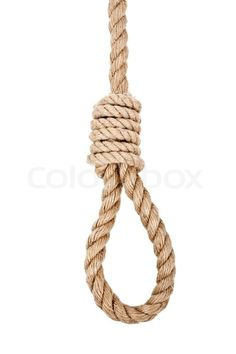 """Buy the royalty-free Stock image """"Gallows hanging rope knot tied noose white isolated"""" online ✓ All image rights included ✓ High resolution picture for . Rope Tattoo, Rope Drawing, Elven Woman, Persian Tattoo, Bull Tattoos, Tied Hands, Rope Tying, Rope Knots, Backgrounds"""