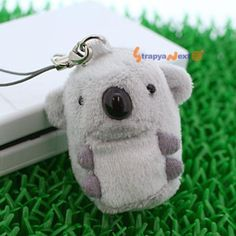 Soft and Downy Mini Animal Stuffed Toy Cell Phone Strap (Koala) - Hamee.com
