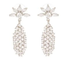 Waterfall Crystal Drop Earrings - Jackie O - These are from the Jacqueline Kennedy Collection on qvc.com & what a collection it is! From scarves to watches to necklaces, crosses, bracelets and more. EACH PIECE has a story. In a photo above/nearby Jackie is wearing these earrings.