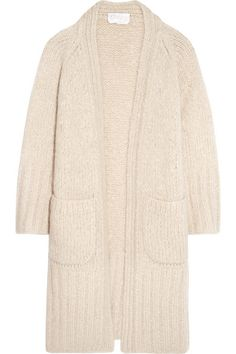 CHLOÉ Chunky-Knit Mohair, Wool And Cashmere-Blend Cardigan. #chloé #cloth #knitwear