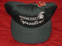 fbbfe87434522b VINTAGE MICHIGAN STATE SPARTANS MSU AMERICAN NEEDLE SNAPBACK CAP HAT NWT  #AmericanNeedle #MichiganStateSpartans