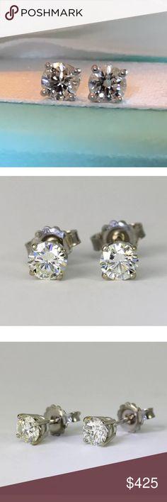 Gorgeous 0.70 carat 14kwhite gold diamond earrings Gorgeous 0.70 carat 14k white gold diamond earrings Jewelry Earrings