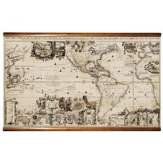 Authentic Models 1719 The Americas Map