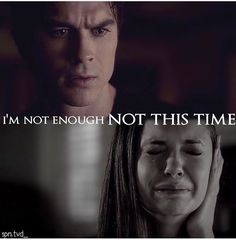 Sometimes I just wanna tell Elena to shut up and deal with it cuz not everyone can have a Damon Salvatore
