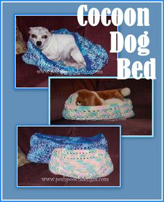 Posh Pooch Designs Dog Clothes: Cocoon Dog Bed Crochet Pattern - 2 Sizes   Posh Pooch Designs
