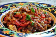 Day 23: Ratatouille with Roasted Potatoes   #veganpopup #vegan #food #dinner #ratatouille #potatoes