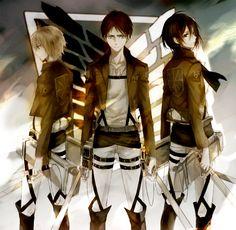 Armin & Eren & Mikasa | Shingeki no Kyojin #anime