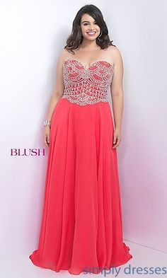 Shop plus-sized long formal dresses at Simply Dresses. Sexy plus-size prom dresses, plus formal dresses, plus-size evening gowns, and long formal party dresses in plus sizes. Blush Formal Dresses, Prom Dresses 2018, Cute Dresses, Halter Dresses, Wedding Dresses, Plus Size Long Dresses, Modelos Plus Size, Curvy Dress, A Boutique