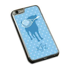 Tennis Phone Case Monogrammed Tennis Dog with Racket