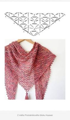 Crochet Scarf Diagram, Crochet Square Patterns, Crochet Poncho, Crochet Scarves, Crochet Yarn, Crochet Clothes, Crochet Stitches, Gypsy Crochet, Crochet Woman
