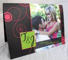 Folded Wedding Invitations #dbbridalsstyle