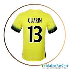 Maillots Inter Milan Jaune GUARIN 13 Third 15 2016 2017