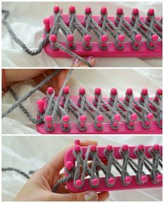 I never thought to use a knitting loom, but this actually looks interesting and comes out looking nice || Lovin' From The Oven: DIY: How to use a Knitting Loom to make an Infinity Scarf