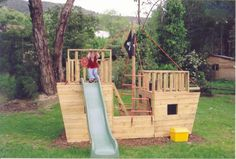 The Pirate Ship Cubby House - The Pirate Ship Cubby House, constructed using kid safe treated pine and galvanised fittings. Ove