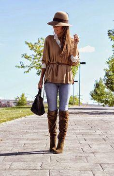 Inspiring #30 #dededetalhes #style #look #lookinspiration #camel #boots #cap #details