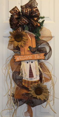 #Fall #Autumn #Harvest door decor