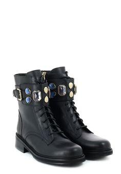 de50703b Черные Ботинки PATRIZIA PEPE - приобрести в онлайн бутике элитной одежды  Elyts.ru по цене