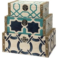 cute trunk set - love the colors and patterns!