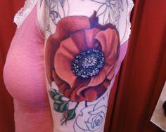 Watercolor Poppy Tattoo | poppy flower tattoos