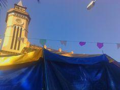 santo andré, igreja e bandeirinhas da quermesse