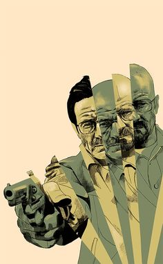 Breaking Bad - Walter White by Oliver Barret Art Breaking Bad, Affiche Breaking Bad, Breaking Bad Poster, Images Graffiti, Composition D'image, Breking Bad, Jesse Pinkman, Heisenberg, Walter White