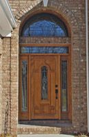 Mahogany Door with 2 Transoms - We can make any size fit #exteriordoorswithsidelights #roundtopdoubledoors #wooddoors Exterior Doors With Sidelights, Door Picture, Double Doors, Wooden Doors, Gallery, Interior, Fit, Home Decor, Decoration Home