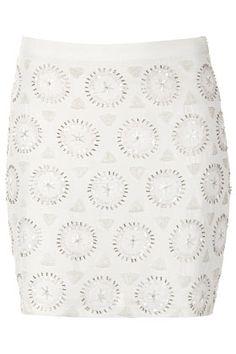 White Embellished Mini Skirt TopShop  $130