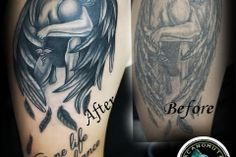 Cover up tattoo Up Tattoos, Cover Tattoo, Tattoo Studio, Cover Up