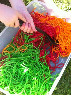 Rainbow worms! Fun for all!