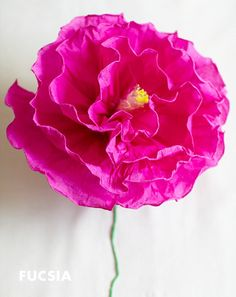 Tissue Paper Flowers Tutorial Flower Power Pinterest Paper