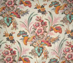 19th c. French quilted panel