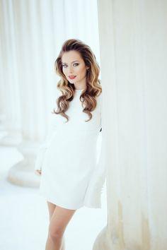 Rochie- Sacou | Laura Cosoi Up Hairstyles, White Dress, High Neck Dress, Dresses, Fashion, Turtleneck Dress, Vestidos, Moda, Hairdos