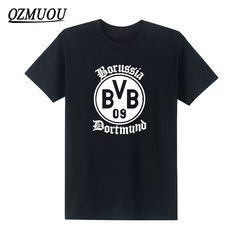 >> Click to Buy << 2017 New Fashion BVB Borussia Dortmund Mens T Shirt Novelty Short Sleeve O Neck Cotton Top Tee Camisetas Masculina  Size #Affiliate