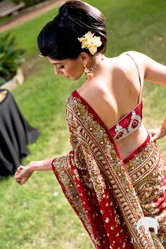 Um, I love this Saree! Check the detail, intricate work on the saree...and the kurta is hot! ;)