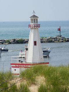 New Buffalo City Beach Lighthouse, MI, USA