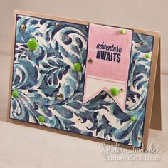 Simon Says Stamp Blog!: Layered Stamping with Distress Paints!