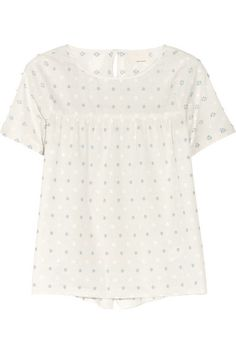 embroidered cotton top / band of outsiders