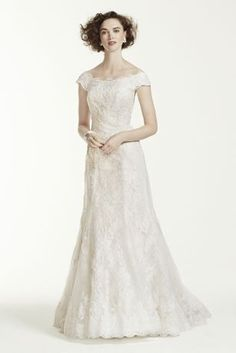 95850c5c5e4 Classic beautiful meets timeless elegance in this heavenly off-the-shoulder  Oleg wedding dress