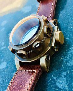 Man Watches, Cool Watches, Wood Watch, Binoculars, Bronze, Concept, Accessories, Ideas, Men Watches