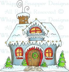 Winter Home - Christmas Images - Christmas - Rubber Stamps - Shop