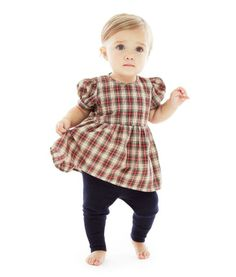 Nili Lotan New Generation® for J.Crew printed dress & cashmere baby leggings.