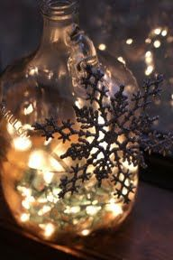 Twinkle light bottles--so heartwarming and pretty.