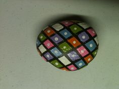 Easter egg painted stone