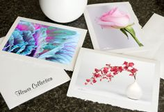 Photo Greeting Card Collection Flowers by HPaquinPhotography, $10.00