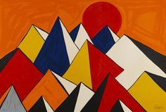 Alexander Calder 1973 Homage to the sun Abstraction/surrealism
